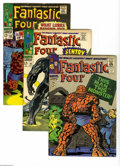 """Silver Age (1956-1969):Superhero, Fantastic Four Group (Marvel, 1966-70) Condition: Average FN+. Five-issue lot includes #51 (classic """"This Man...This Monster... (5 Comic Books)"""