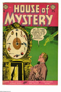 Golden Age (1938-1955):Horror, House of Mystery #28 (DC, 1954) Condition: VG. Ruben Moreira cover.Moreira, Curt Swan, Ed Smalle, and Nick Cardy art. Overs...