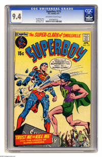 Superboy #173 (DC, 1971) CGC NM 9.4 Off-white to white pages. Neal Adams cover. George Tuska art. Overstreet 2005 NM- 9...
