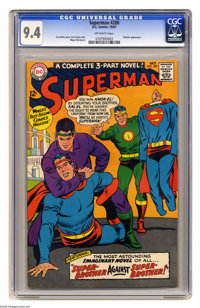 Superman #200 (DC, 1967) CGC NM 9.4 Off-white pages. Brainiac appearance. Curt Swan cover. Wayne Boring art. Overstreet...