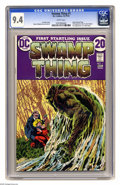 Bronze Age (1970-1979):Horror, Swamp Thing #1 (DC, 1972) CGC NM 9.4 White pages. Bernie Wrightsoncover and art. First telling of revised origin. Overstree... (1 )
