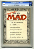 Magazines:Mad, Mad #24 (EC, 1955) CGC VF+ 8.5 Light tan to off-white pages. Thisis the first magazine-sized issue of the popular title. It... (1 )