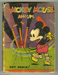 Books, Mickey Mouse Annual - Canadian Hardback (Musson, 1934) Condition:Qualified GD. Mickey plays Cricket on the cover of this ve... (1 )