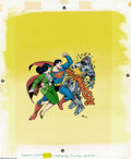 Original Comic Art:Covers, Fred Carrillo - Superman A Big Coloring Book Cover Original Art(Golden Books, 1989). The Man of Steel takes out a man of st...
