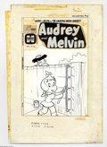 Original Comic Art:Covers, Warren Kremer - Audrey and Melvin #63 Cover Original Art (Harvey,1974). Work smart, not hard! That seems to be Little Audre...
