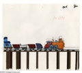 Original Comic Art:Miscellaneous, Little Golden Bookland Tootle the Train Production Cel andAnimation Drawing Original Art, Group of 200 (DICEntertainment/Wes... (200 items)