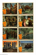 """Movie Posters:War, Gung Ho! (Universal, 1943). Lobby Card Set of 8 (11"""" X 14""""). Thetrue story of Colonel Evans Carlson's Raiders' assault on M... (8Items)"""