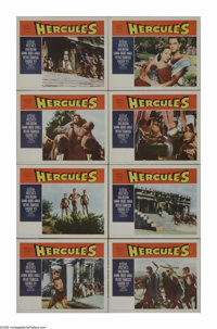 "Hercules (Warner Brothers, 1959). Lobby Card Set of 8 (11"" X 14""). This is it -- the one and only Steve Reeves..."
