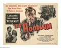 "Movie Posters:Crime, The Hoodlum (United Artists, 1951). Title Lobby Card (11"" X 14"").The rise and fall, with no redemption, of a small time gan..."