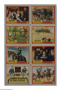 """Movie Posters:Western, The Horse Soldiers (United Artists, 1959). Lobby Card Set of 8 (11"""" X 14""""). John Ford's epic cavalry story tells the true ta... (8 Items)"""