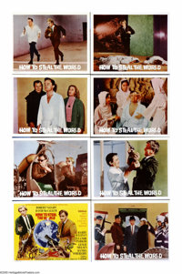 """How to Steal the World (MGM, 1968). Lobby Card Set of 8 (11"""" X 14""""). Napoleon Solo and Illya Kuryakin (Robert..."""