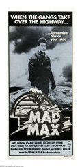 """Movie Posters:Science Fiction, Mad Max (Roadshow Film Distributors, 1979). Australian Daybill (13.5"""" X 30""""). The first of the series that made Mel Gibson f..."""