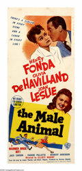 """Movie Posters:Comedy, The Male Animal (Warner Brothers, 1942). Australian Daybill (13"""" X 30""""). Professor Tommy Turner (Henry Fonda) believes in th..."""