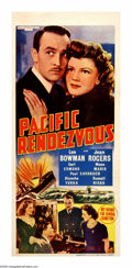 "Movie Posters:War, Pacific Rendezvous (MGM, 1942). Australian Daybill (13"" X 30""). Lee Bowman plays a Naval Intelligence officer at the beginni..."