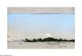 Texas:Early Texas Art - Impressionists, Frank Reaugh (1860-1945) Landscape, 1886 Pastel on Reaugh preparedpaper (grit surface) 5 x 7in. Dated lower margin: 1...