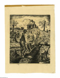 Texas:Early Texas Art - Drawings & Prints, Merritt Mauzey (1897-1973) Grandpa Snazzy, 1920 Lithograph 12 1/2 x17in Signed lower right: Merritt Mauzey B...