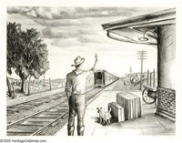 Florence McClung (1894-1992) Good Luck Son, 1945 Lithograph 14 x 18in. Signed lower right: Florence McClung Titled