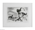 Texas:Early Texas Art - Drawings & Prints, Jerry Bywaters (1906-1989) Ranch Hand and Pony Lithograph 11 x 14 1/2in. Signed lower right: Jerry Bywaters (twice) ...