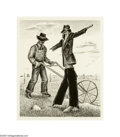 Texas:Early Texas Art - Drawings & Prints, William Lester (1910-1991) Scarecrow Lithograph 12 1/2 x 10 1/2in.Signed lower right: William Lester (S.L.) ...