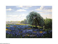 Texas:Early Texas Art - Impressionists, Henry Einfeldt (1873-1952) Bluebonnets, 1924 Oil on canvas 9 3/4 x14in. Signed lower right: H. Einfeldt 1924 Br...