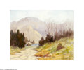 Texas:Early Texas Art - Impressionists, Harold A. Roney (1899-1986) In the Valley Oil on masonite 16 x20in. Signed lower right: Harold A. Roney Inscribed ...