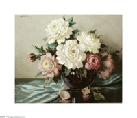 A.D. Greer (1904-1998) Still Life Oil on canvas 20 x 24in. Signed upper left: A.D. Greer  Brian Roughton: Good c