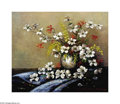 Texas:Early Texas Art - Impressionists, Ira McDade (1867-1951) Dogwood Blossoms Oil on canvas 25 x 30in.Signed lower right: Ira McDade Inscribed verso: ...
