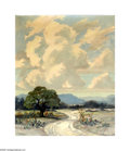 Texas:Early Texas Art - Impressionists, John Bob Payne (1889-1967) Winding Road Oil on canvas 24 x 20in.Signed lower right: John Bob Payne Brian Rought...