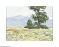 Texas:Early Texas Art - Impressionists, Bill Warden (1927-1991) Spring Landscape Oil on masonite 12 x 16in.Signed lower right: B. Warden Brian Roughton...