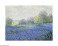 Texas:Early Texas Art - Impressionists, J.M. Coingreau Bluebonnets & Willows Oil on canvas 18 x 24in.Signed lower left: J.M. Coingreau Brian Roughto...