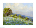Texas:Early Texas Art - Impressionists, Carl Hoppe (1897-1981) Bluebonnets & Oaks, Fredericksburg, TXOil on artist board 12 x 16in. Signed lower right: C. Ho...