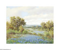 Texas:Early Texas Art - Impressionists, Robert Harrison Springtime in Kerrville Oil on canvas 16 x 20in.Signed lower left: Robert Harrison Brian Rought...