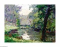 Texas:Early Texas Art - Impressionists, Carl Hoppe (1897-1981) San Antonio River Oil on artist board 9 x12in. Signed lower right: C. Hoppe. Titled verso: ...