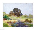 Texas:Early Texas Art - Impressionists, Carl Hoppe (1897-1981) Hill Country Pasture Oil on panel 8 x 10in.Signed lower right: C. Hoppe Provenance: Estate ...