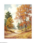 Texas:Early Texas Art - Impressionists, Dolly Nabinger (1905-1988) East Texas Autumn Oil on linen 30 x24in. Signed lower left: D.S. Nabinger Brian Roug...
