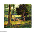 Texas:Early Texas Art - Impressionists, Inez Staub Elder (1894-1991) A Path Through the Grove, c.1930s Oilon artist board 12 x 14in. Signed lower right: Inez...
