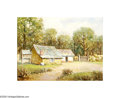 Texas:Early Texas Art - Impressionists, Rolla Taylor (1871-1970) Mexican Hut, Mexico Oil on canvas board 12x 16in. Signed lower left: Rolla Taylor Inscrib...