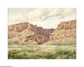 Texas:Early Texas Art - Impressionists, U. W. Fisher (1887-1970) Santa Elana Canyon, Big Bend National ParkOil on canvas board 18 x 24in. Signed lower right: ...