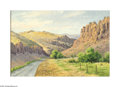 Texas:Early Texas Art - Impressionists, Ulrich Fisher (1887-1970) Limpia Canyon, Davis Mountains. Oil oncanvas 20 x 30in. Signed lower right: U.W. Fisher ...