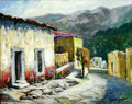 Texas:Early Texas Art - Impressionists, Rolla Taylor (1871-1970) Street of Santiago Oil on canvas board 16x 20in. Signed lower right: Rolla Taylor B...