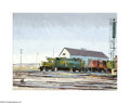 Texas:Early Texas Art - Regionalists, J.B. Erwin (1920- ) MKT Locomotive, 1976 Oil on masonite 18 x 24in.Signed lower right: J.B. Erwin Provenance: J.B...