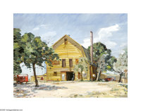 J.B. Erwin (1920- ) George Stables, c.1970 Oil on masonite 18 x 24in. Signed lower right: J.B. Erwin  Brian Rou