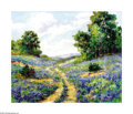 Paintings, Eloise Polk McGill (1868-1930) Bluebonnet Trail in Hill Country Oil on canvas laid down on board 20 x 24in. Signed lower...