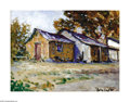 Texas:Early Texas Art - Impressionists, Rolla Taylor (1871-1970) Hill Country Farmhouse Oil on canvas board12 x 16in. Signed lower right: Rolla Taylor Ins...