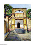 Texas:Early Texas Art - Impressionists, Rolla Taylor (1871-1970) La Borda Garden, Cuernavaca, c.1930s Oilon artist board 16 x 12in. Signed lower right: Rolla...