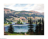Rolla Taylor (1871-1970) Mountain Landscape Oil on canvas laid on board 16 x 20in. Signed lower right: Rolla Taylor&...