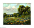 Texas:Early Texas Art - Impressionists, Carl Hoppe (1897-1981) Bluebonnets and Paintbrushes, 1965 Oil oncanvas 16 x 20in. Signed lower artist: C. Hoppe 65 ...