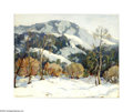 Texas:Early Texas Art - Impressionists, Mary Darter Coleman (1893-1956) Snowy Landscape Oil on canvas 16 x20in. Signed lower left: Mary Darter Coleman ...