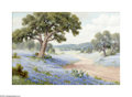 Texas:Early Texas Art - Impressionists, Dolly S. Nabinger (1905-1988) Bluebonnets Oil on linen 24 x 36in.Signed lower left: D.S. Nabinger Brian Roughto...