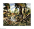 Texas:Early Texas Art - Impressionists, Jose Vives Atsara (1919-2004) Landscape with Trees and Pond Oil onmasonite 30 x 40in. Signed lower right: Vives Atsar...